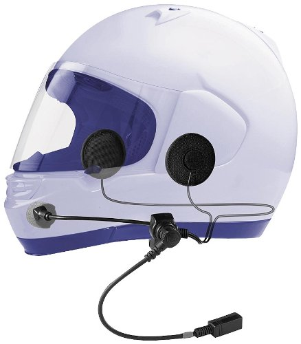 J&M Performance Series Clamp-on Headset - HS-BCD279-FF for Most Full-face Style Helmets HS-BCD279-FF by J&M