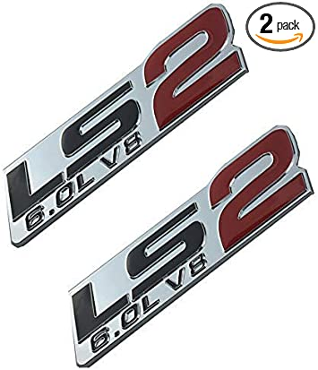 2 CHEVY CORVETTE LS2 6.0L ENGINE FENDER EMBLEMS BADGES