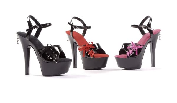 9b4a2e6825 Amazon.com | Penthouse Women's Naomi PH601 Platform Shoes, Black Patent, 7  M US | Pumps