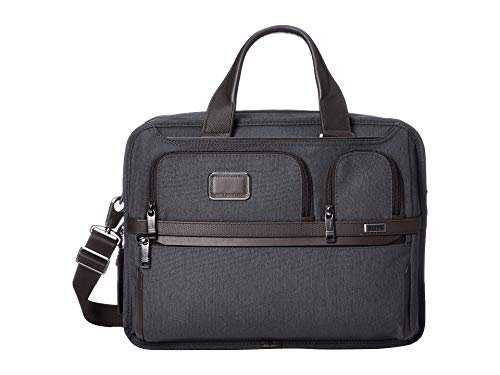 Tumi Unisex Alpha 3 Expandable Organizer Laptop Brief Anthracite One Size - Large Laptop Brief