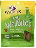 Wellness Soft WellBites Natural Grain Free Dog Treats, Lamb & Salmon, 6-Ounce Bag