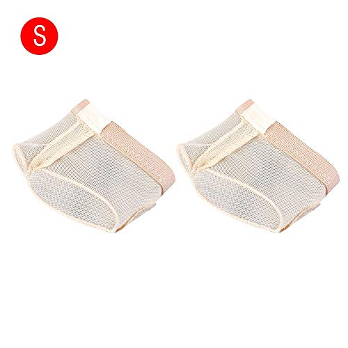 Alomejor 1 Pair Dance Paws Pad Forefoot Pads Ballet Footwear Half Lyrical Shoes Half Toe Sleeve Pads Toe Protector (S)