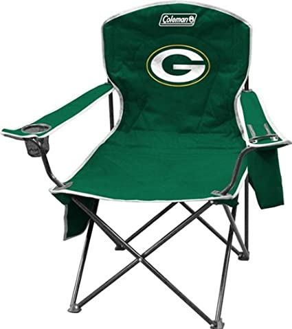 Amazon.com: Green Bay Packers Coleman XL Cooler Quad Chair ...