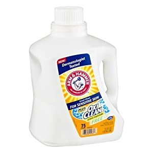 Arm & Hammer Laundry Detergent for Sensitive Skin Free of Perfumes & Dyes, 131.25 FL OZ