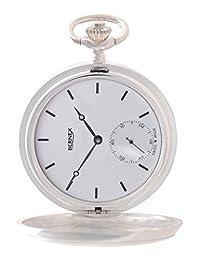 BN22546 - Sterling Silver - Full Hunter - Mechanical Movement - Bar Dial - White Dial