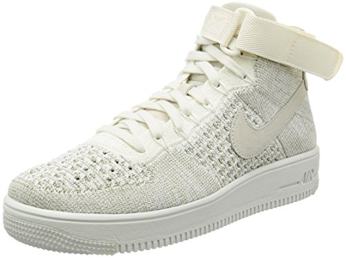 NIKE Men's AF1 Ultra Flyknit Mid Basketball Shoe Sail/Sail-pale Grey