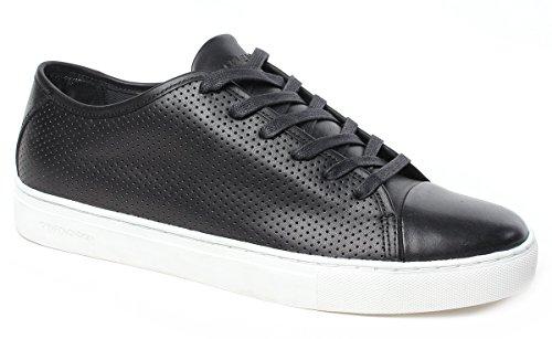 Crime Sneakers Uomo, Art.11280S1720, Tomaia in Pelle Nero Traforata, Collezione SS17