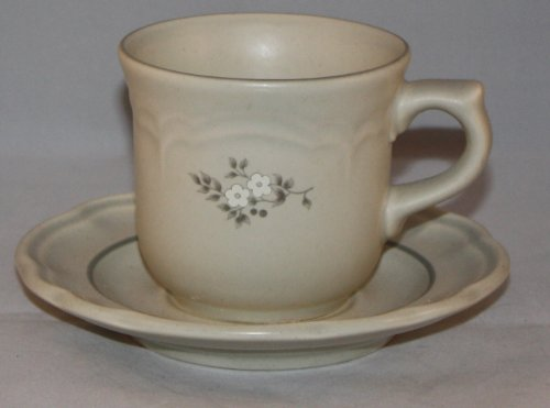 Pfaltzgraff Heirloom Flat Cup and saucer Set