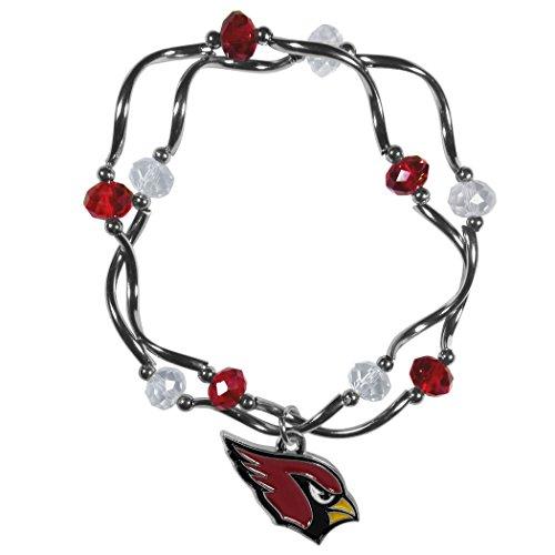 Siskiyou NFL Arizona Cardinals Women's Crystal Bead Bracelet, Stretch Arizona Cardinals Nfl Crystal
