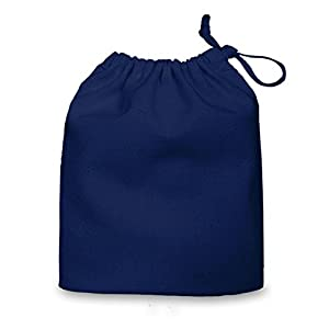 Navy Blue Small 100% Cotton Drawstring Bag 20x24cm - ideal for ...