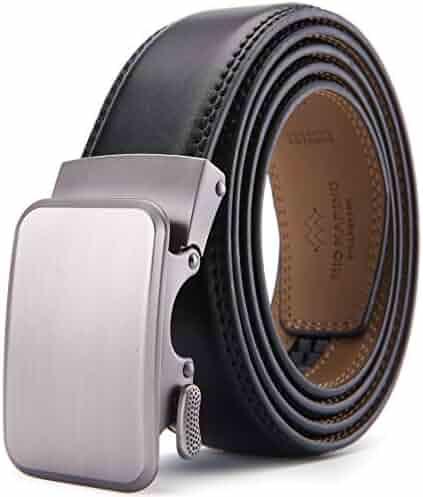 b8c40954029cc Mio Marino Belts For Men Genuine Leather Ratchet Belt Automatic Buckle