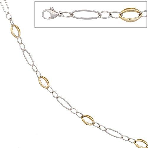 Bracelet femmes 585 bicoloree or 14 cts longueur de 19 cm de largeur 0,87 cm