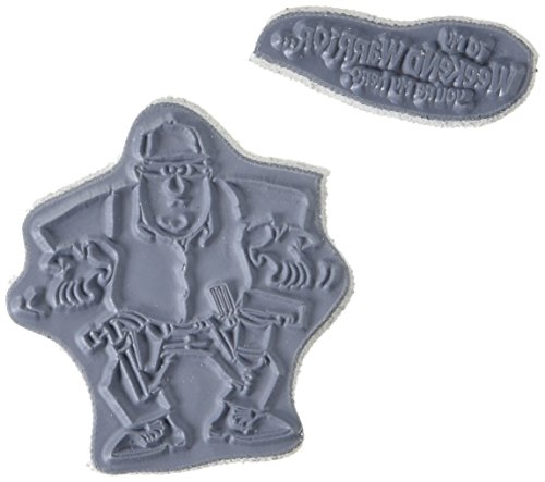 Art Impressions Father's Day Cling Rubber Stamp, 5 by 4-Inch, Weekend Warrior -