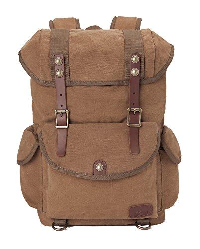 Travel Outdoor Computer Backpack Laptop bag middle (khaki) - 6