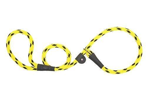 Mendota Products Dog Slip Lead, 3/8''x4', Black Ice Yellow