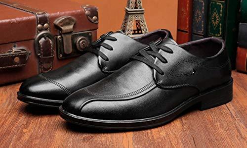 Black Stringate Casual Scarpe da Fondo con Business Scarpe LEDLFIE Morbido Uomo Eleganti 0PqwwTC
