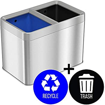 Amazon Com Itouchless 5 3 Gallon Open Top Trash Can