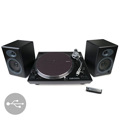 Audio-Technica: AT-LP120BK-USB Turntable + Audioengine A5+ Speaker Package - Black