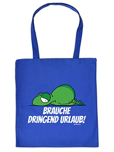 URLAUB Tote Bag Henkeltasche Beutel mit Aufdruck Tragetasche Must-have Stofftasche Geschenkidee Fun Einkaufstasche
