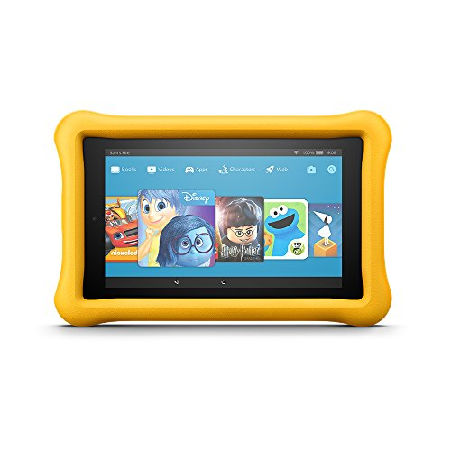 Fire 7 Kids Edition Tablet, 7″ Display, 16 GB, Yellow Kid-Proof Case