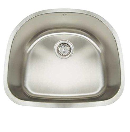 Artisan AR 2321 D9-D Premium Collection 16-Gauge 23 Undermount Single Basin Stainless Steel Kitchen Sink