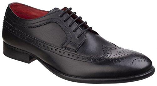 Base London Mens Bailey Waxy Leather Lace Up Brogue Shoe (SA02) Black y6UIhsxvk
