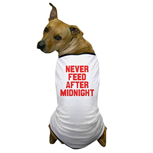 CafePress Never Feed After Midnight - Dog T-Shirt, Pet Clothing, Funny Dog (Cult Classic Costumes)