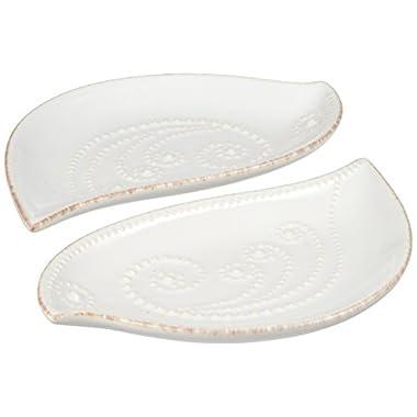 Lenox French Perle Bird Tidbit Plates, Set of 2, White