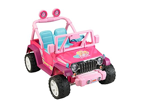 amazoncom power wheels barbie jammin jeep wrangler toys games