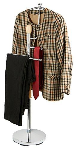 Mind Reader Wood and Steel Valet Suit Rack Stand, Silver by Mind Reader (Image #5)