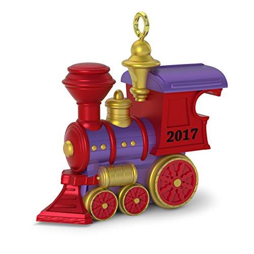 Hallmark Keepsake 2017 Teeny Toy Train Mini Dated Christmas Ornament