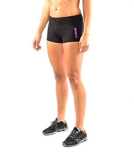 VIRUS Womens ECO22-Stay Cool Data Training Short X Small Black/Purple