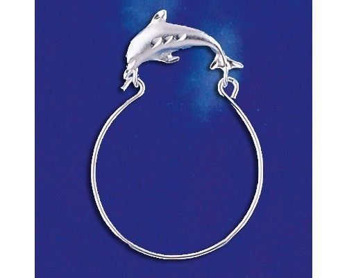 Sterling Silver Dolphin Charm Holder Pendant Marine Ocean Charm Solid 925 Silver - Silver Jewelry Accessories Key Chain Bracelet Necklace Pendants