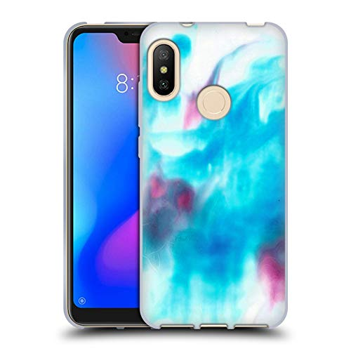 Official Julien Corsac Missaire Marbled Milk Blue Pink Abstract Soft Gel Case for Xiaomi Mi A2 Lite/Redmi 6 Pro -  Head Case Designs, HTPCR-MIA2LT-JMISABS-BLP