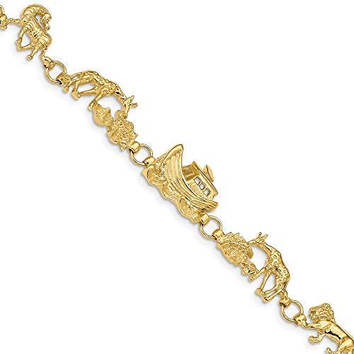 - Beautiful Yellow gold 14K 14k Noah's Ark Bracelet