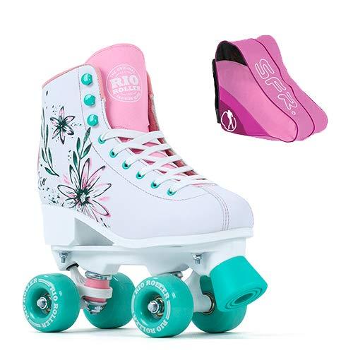 By Olis With Skate Bag Flora Artist Rio Roller Quad Roller Skates