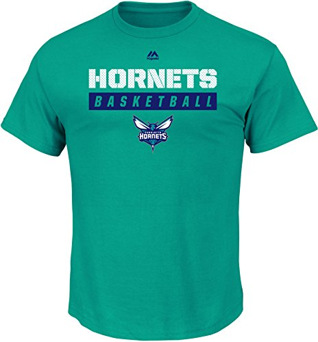 NBA Charlotte Hornets Men's Proven Pastime Short Sleeve Crew Neck Tee, X-Large, New Aqua