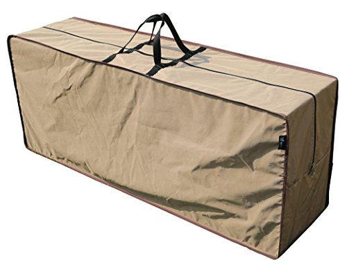 "SORARA Rectangular Cushion Cover Storage Bag Outdoor Protective Zippered Patio Furniture Cover, Water Resistant, 79""L x 30""W x 24""H"