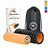 PowerPro 2-in-1 Foam Rollers: 13'' Trigger Point Foam Roller Plus Smooth Muscle Roller. Ideal for Injury Rehab,Chronic Back Pain, Shin Splints, Lactic Acid & Migraines 2 x Ebooks & Carry Case