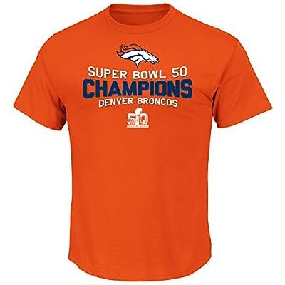 NFL Men's Broncos Born To Rule VII Tee (Classic Orange)