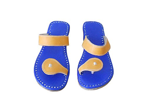 Kalra Cuero Tradicional étnico Indio Creations Zapatillas De Hombres Azul rIwqrvp
