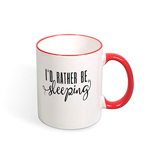 DKISEE I'D Rather Be Sleeping Funny Color Coffee Mug Mouth And Handle Novelty 11oz Ceramic Mug Cup Birthday Christmas Anniversary Gag Gifts Idea