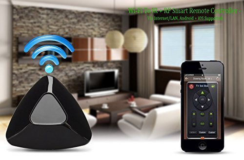 2015 WiFi To IR + RF Smart Remote Controller Via Internet LAN Android iOS Wireless Universal Remote Control Radio Support iPhone iPad Tablet Smartphone Mobile Device Infrared TV Air Conditioner Smart Home Internet Network Gadget Functions