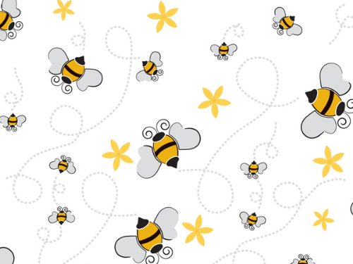 Pack Of 1, Honey Bees Cello Roll 1.0 Mil 30'' X 100' Made In USA For Spring, Get Well, Baby & Birthday by Generic
