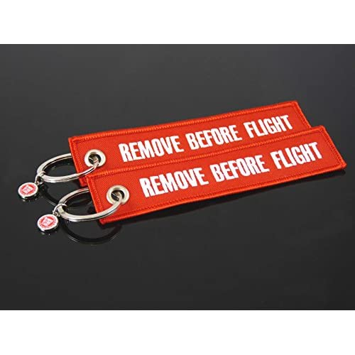 on sale Porte clés Remove Before Flight (Rouge)–Lot de 2