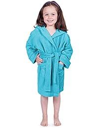 Kid's Hooded Terry Cloth Bathrobe - Cozy Robe by for Kids Texere (Rub-A-Dub)