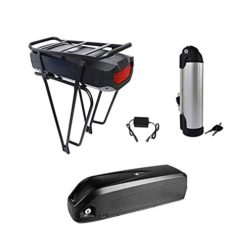 Greenergia 48V 17AH Li-Polymer Battery for 48V 350-1500W Electric Bicycle with Battery Rack and Charger