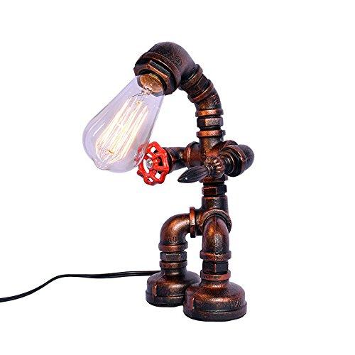MLMH Kreative Wasserrohr Lampe Retro Industrial Wind Roboter Tischlampe Tischlampe