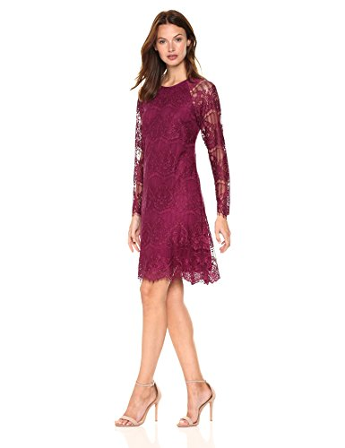 Damen Adrianna AP1D101417 Kleid burgunderfarben Papell gwSwzqfn