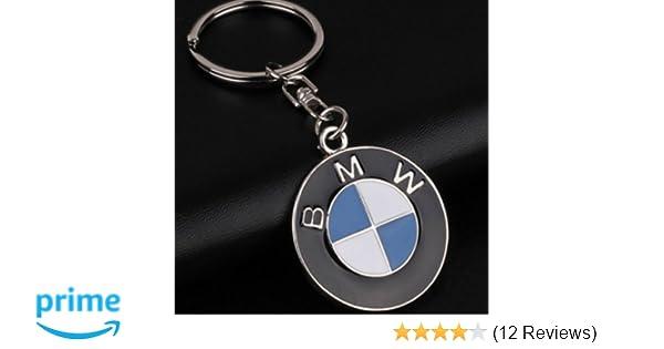 Bearfire car logo key chain Zinc Alloy Genuine Leather Key-ring for BMW Accessory
